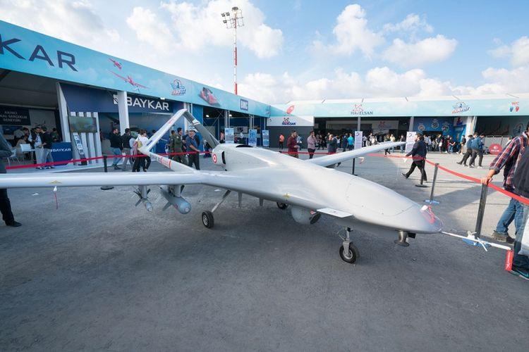Drone buatan Turki, Bayraktar, yang digunakan pasukan pemerintah Libya, GNA.