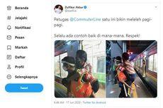Petugas KRL Ini Tak Mengira Aksinya Gendong Penumpang Difabel di Stasiun Duri Viral