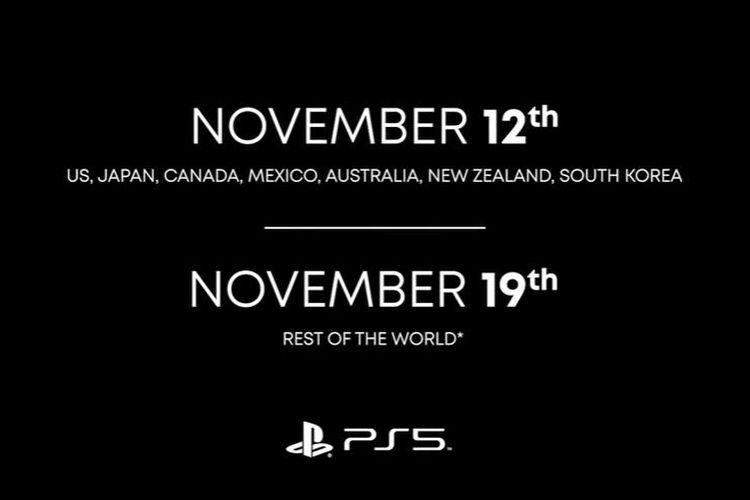 Informasi tanggal peluncuran PS5.