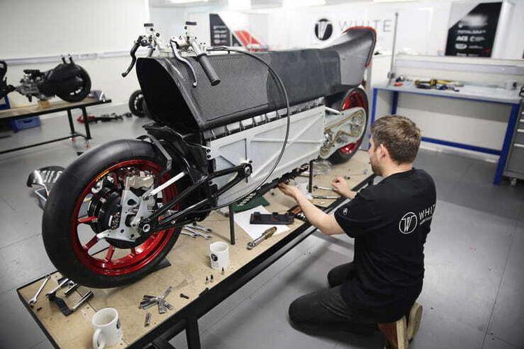 Motor listrik WMC250EV buatan White Motorcycle Concepts (WMC)