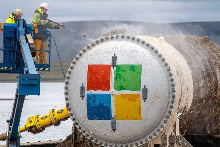 Pusat data milik Microsoft diangkut ke daratan