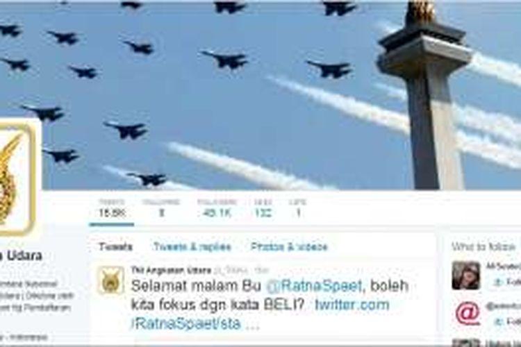 Akun Twitter TNI Angkatan Udara, @_TNIAU