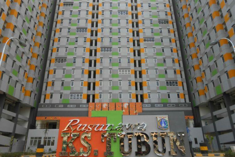 Muka depan Rusun KS Tubun yang terletak di Jalan KS Tubun, Kota Bambu Selatan, Palmerah, Jakarta Barat.