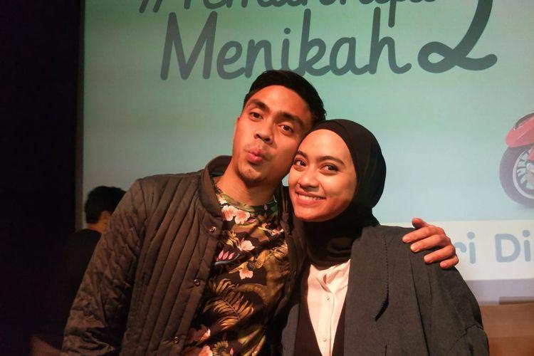 Ayudia Bing Slamet dan Ditto Percussion saat ditemui usai screening film Teman Tapi Menikah 2 di XXI Plaza Indonesia, Jakarta Pusat, Minggu (23/2/2020).