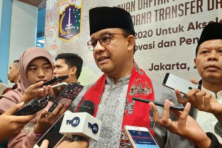 Gubernur DKI Jakarta Anies Baswedan di Blok G, Balai Kota, Jalan Medan Merdeka Selatan, Jakarta Pusat, Jumat (22/11/2019)