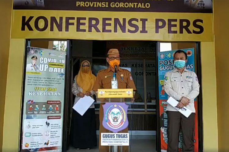 Triyanto Bialangi, juru bicara Gugus Tugas Percepatan penanganan Covid-19 Provinsi Gorontalo