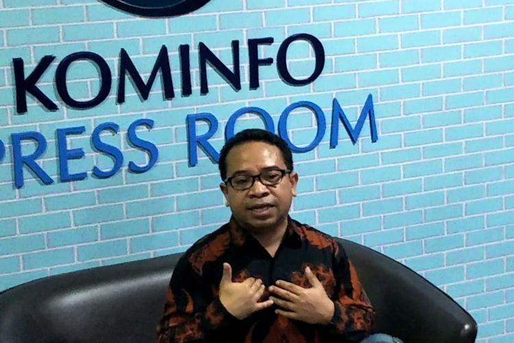 Pelaksana Tugas (Plt) Kepala Biro Humas Kemenkominfo, Ferdinandus Setu saat ditemui di Kantor Kemenkominfo, Jalan Medan Merdeka, Jakarta Pusat, Jumat (2/8/2019).