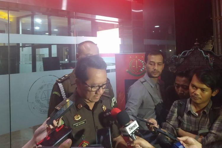 Kepala Pusat Penerangan Hukum Kejagung Hari Setiyono di Gedung Bundar, Kompleks Kejagung, Jakarta Selatan, Senin (20/1/2020).