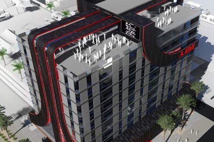 Foto Ilustrasi Hotel Atari dari atas