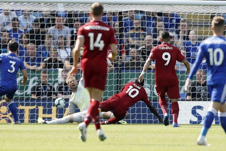 Liverpool menang tipis atas Leicester City pada pertandingan pekan ketiga Premier League di Stadion King Power, 1 September 2018.