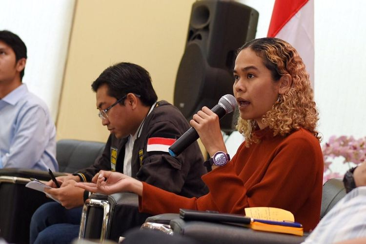 Peneliti Indonesia Corruption Watch (ICW) Lalola Easter dalam diskusi PKSMuda Talks di Kantor DPP PKS, Jumat (29/11/2019).