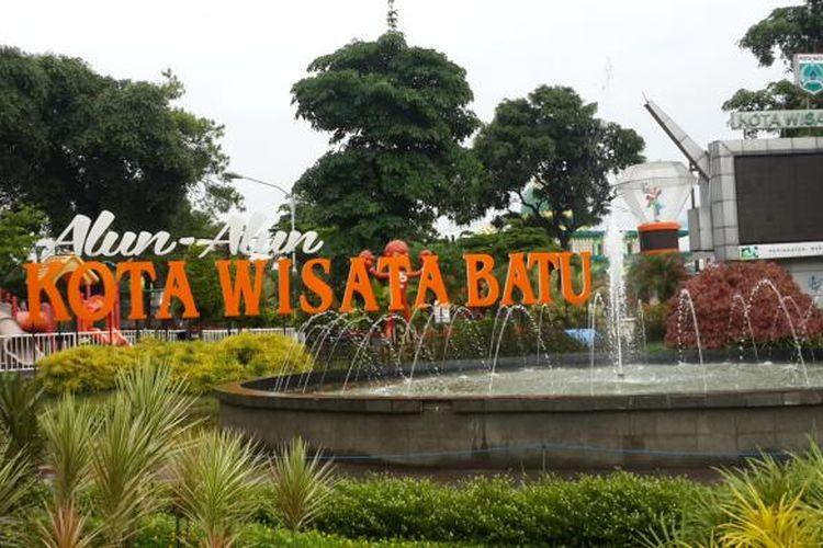 Suasana di Alun-alun Kota Batu, Jawa Timur, Selasa (15/11/2016).