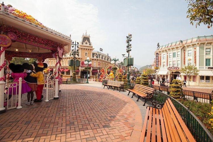 Ilustrasi Disneyland Hong Kong.