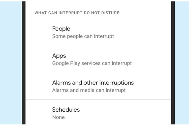 Mode Do Not Disturb Android 11