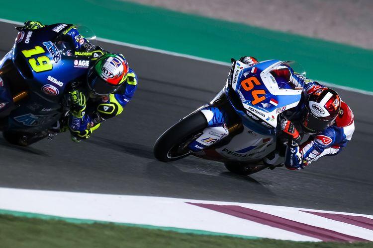 Bo Bendsneyder saat balapan di GP Qatar pada Moto2 2021