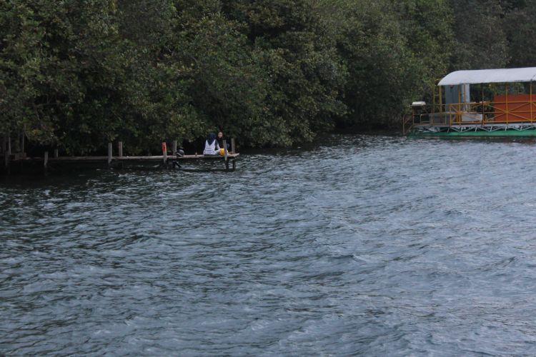 Danau Matano dikelilingi pepohonan yang asri. Danau Matano berada di atas pegunungan verbek Sorowako, Kabupaten Luwu Timur, Sulawesi Selatan.