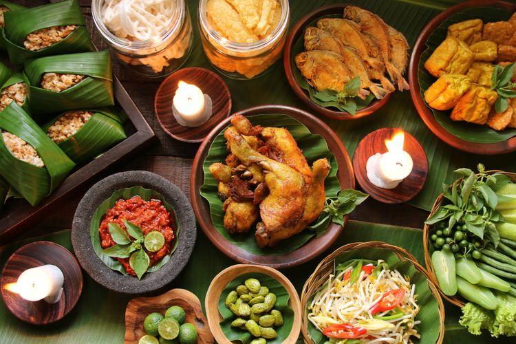 Makanan khas Jawa Barat atau makanan sunda.