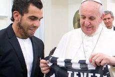 Tevez Temui Paus Fransiskus di Vatikan