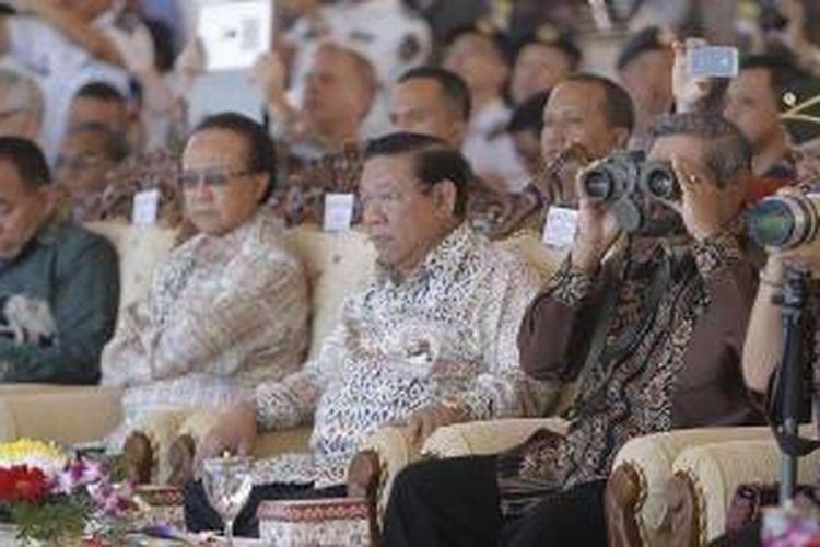 Presiden Susilo Bambang Yudhoyono meresmikan Sail Komodo 2013 di Pantai Pede, Labuan Bajo, Manggarai Barat, NTT, Sabtu (14/9/2013) pukul 09.30 WITA
