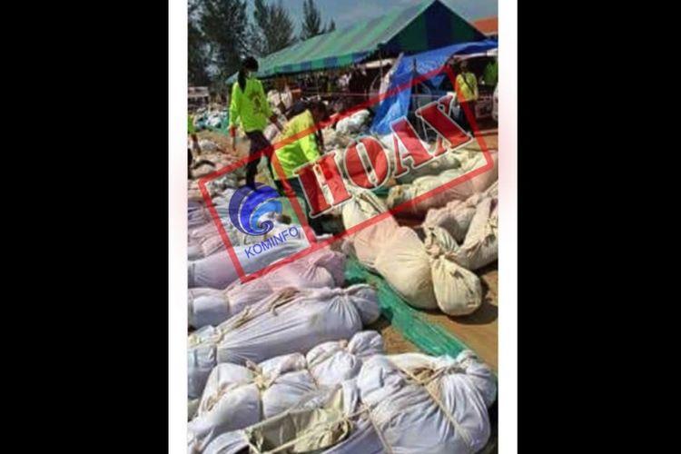 Salah satu berita hoak yang beredar di masyarakat pascagempa dan tsunami