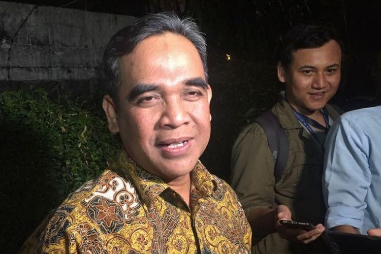 Sekjen Partai Gerindra Ahmad Muzani saat ditemui di kawasan Kemang, Jakarta Selatan, Rabu (1/8/2018) malam.