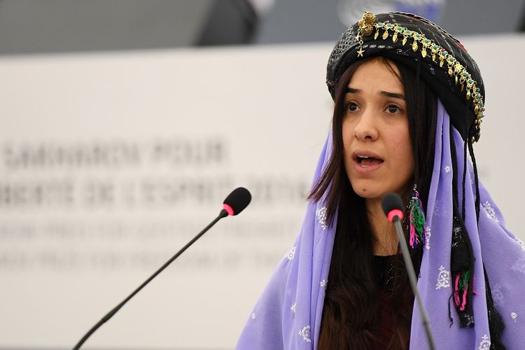 Peraih Nobel Perdamaian 2018, Nadia Murad.