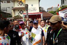 Kepala Bappenas Bawa Obor Asian Games 2018 di Jakbar