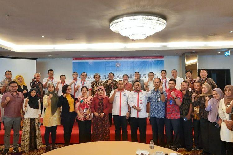 Rapat Koordinasi (Rakor) sejumlah kementerian terkait pengembangan pemuda di Jakarta, Jumat (29/11/2019).