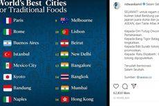 Bandung Peringkat 7 Kota dengan Makanan Tradisional Terbaik Dunia, Kalahkan Bangkok