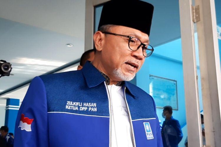 Ketua Umum Partai Amanat Nasional (PAN), Zulkifli Hasan (Zulhas) usai acara di Kantor DPW PAN Jateng, Kamis (27/5/2021).