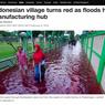 Media Asing Soroti Banjir Berwarna Merah di Pekalongan, Ini Beritanya