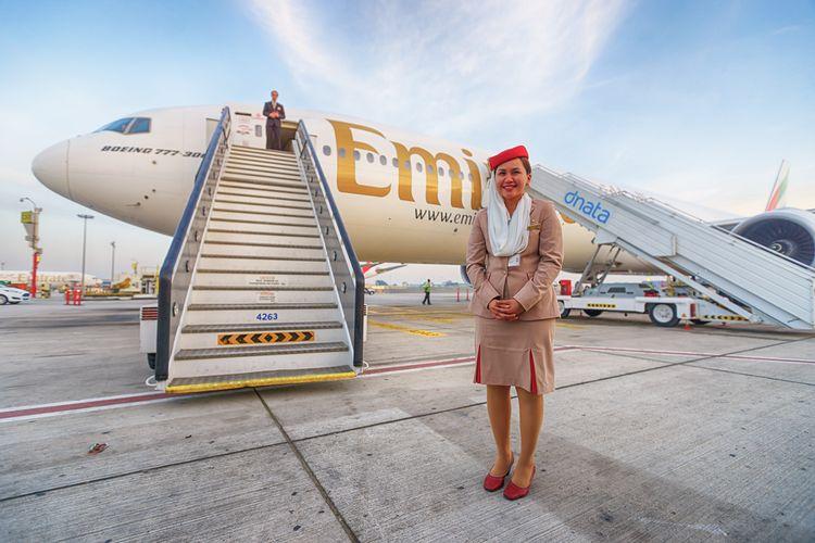 Ilustrasi awak kabin maskapai penerbangan Emirates.