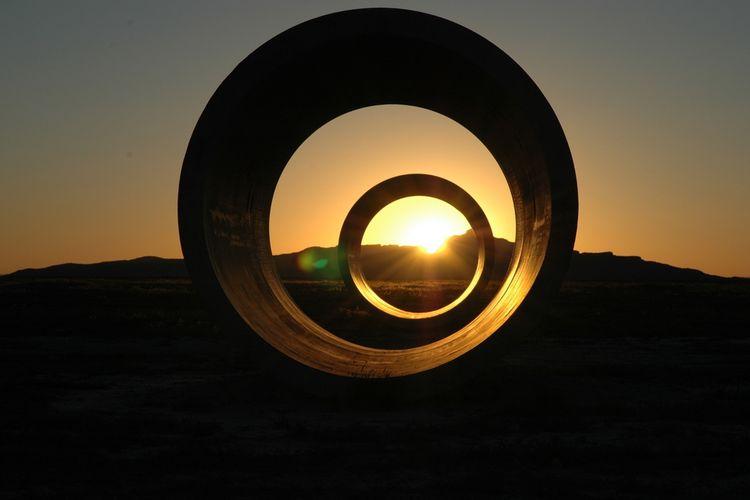 Titik balik matahari atau Summer solstice di gurun utah