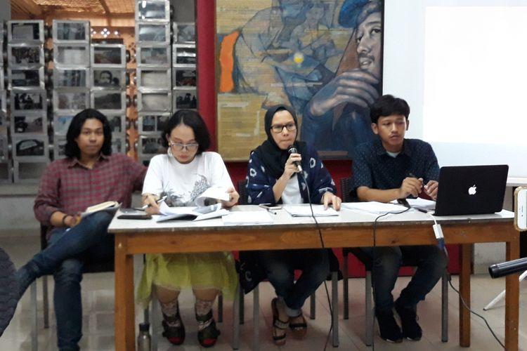 Evaluasi 4 Tahun Pemerintahan Jokowi-JK di Kantor Kontras, Jakarta Pusat, Jumat (19/20/2018).