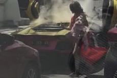Viral Video Lamborghini Terbakar di Surabaya, Ini Penjelasan Dinas Kebakaran
