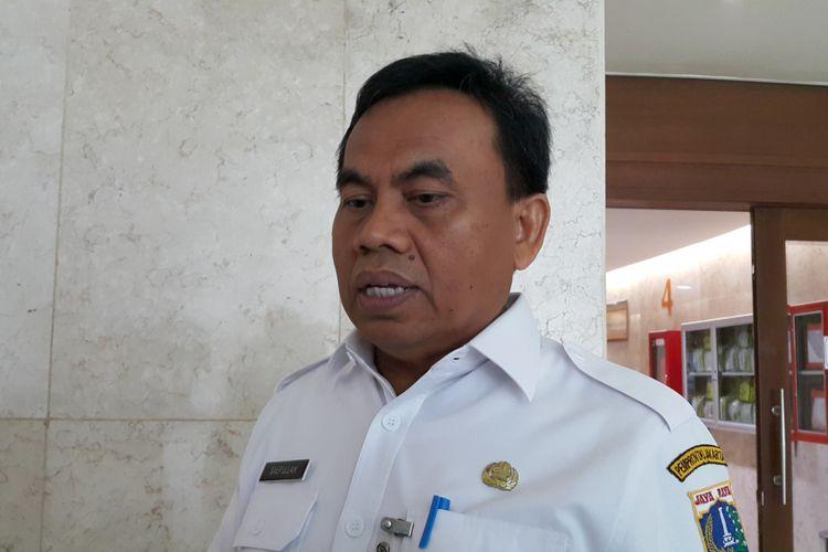 Sekretaris Daerah DKI Jakarta Saefullah di Balai Kota DKI Jakarta, Jalan Medan Merdeka Selatan, Rabu (5/7/2017).