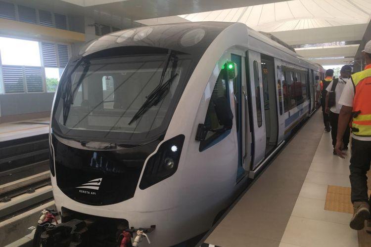 Light Rail Transit (LRT) di Bandara Sultan Mahmud Badaruddin II.