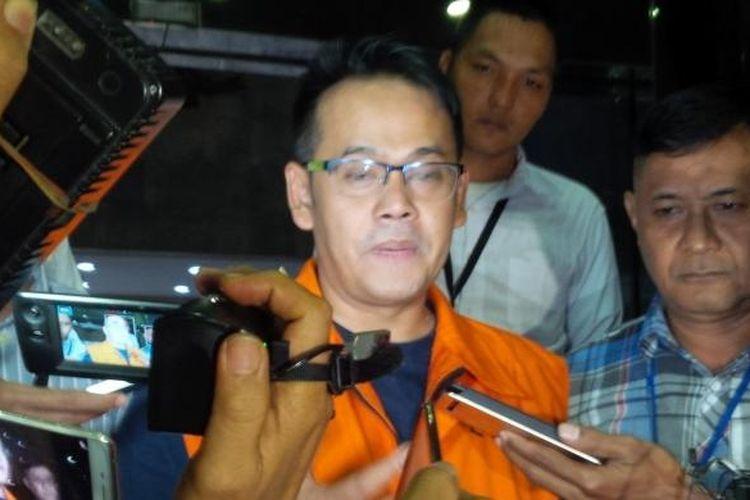 Direktur Utama PT Merial Esa Indonesia (MEI) Fahmi Dharmawansyah usai menjalani pemeriksaan di Gedung KPK, Jakarta, Selasa (27/12/2016).