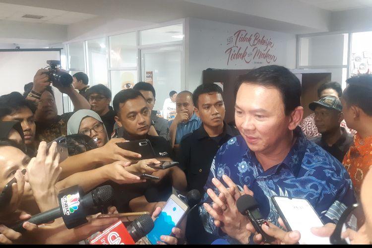 Komisaris Utama Pertamina Basuki Tjahaja Purnama di Kantor Tempo, Palmerah, Jakarta Selatan, Senin (17/2/2020)