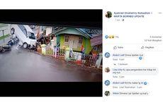 Viral, Video Detik-detik Mobil Alami Ban Selip hingga Tabrak Pemotor dan Tiang Listrik