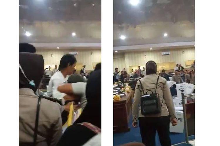 Video yang menampilkan kericuhan di kantor KPU Empat Lawang, Sumatera Selatan pada Selasa (7/5/2019)