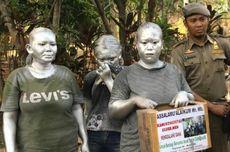 Manusia Silver Dirazia di Jaktim, Mayoritas Masih Anak-Anak