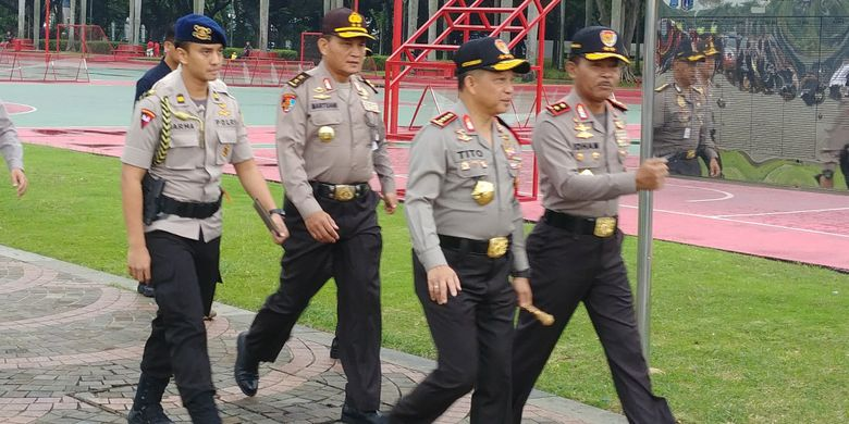 Apel Pasukan Operasi Lilin 2017 di Jakarta, Kamis (21/12/2017).
