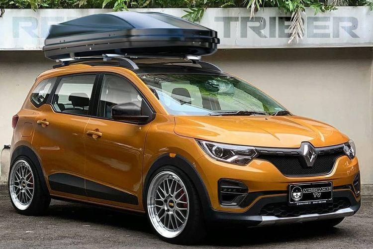 Ilustrasi Renault Triber hasil modifikasi digital