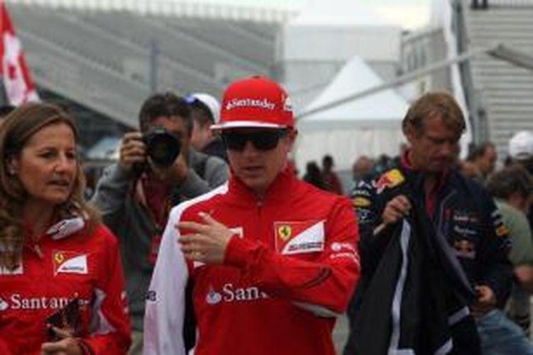 Pebalap Ferrari asal Finlandia, Kimi Raikkonen.