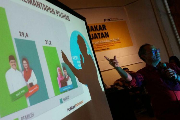 Polmark Indonesia merilis hasil survei Pilkada Jatim di Surabaya
