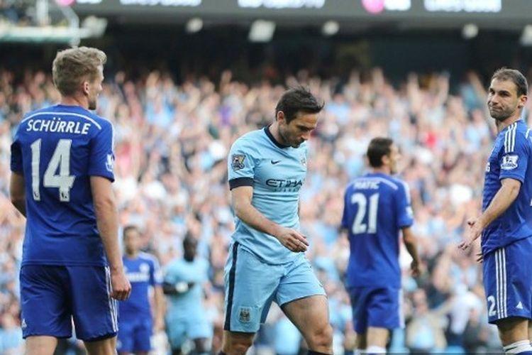 Frank Lampard kala membobol gawang Chelsea, 21 September 2014.