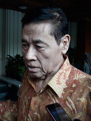 Mantan Menteri Hukum dan HAM, Muladi di Kantor Kemenko Polhukam, Jakarta, Selasa (5/6/2018).