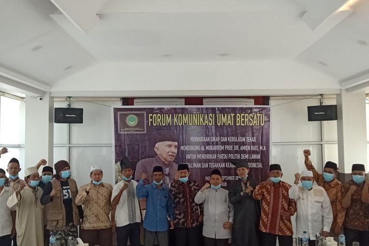 FKUB bersama sejumlah Ormas mendeklarasikan dukungan pada Amien Rais untuk dirikan parpol baru, Kamis (17/9/2020)
