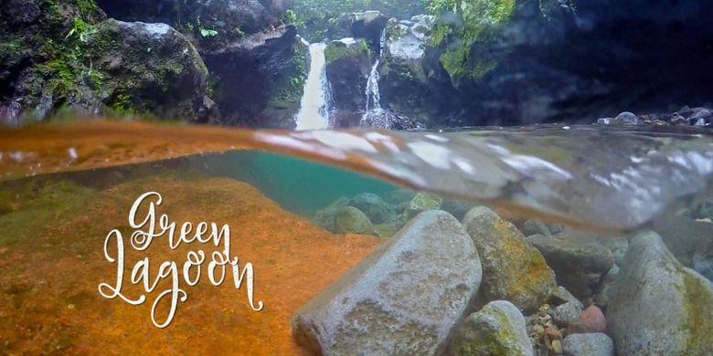 Green Lagoon di Curug Ciampea, Tenjolaya, Bogor, Rabu (14/3/2018).